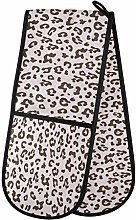 Hunihuni Double Oven Mitts Pink Animal Leopard
