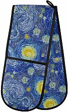 Hunihuni Double Oven Mitts Starry Night Heat
