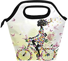 hunihuni Flower Butterfly Girl Bicycle Insulated
