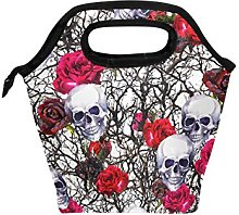 hunihuni Flower Skull Insulated Thermal Lunch