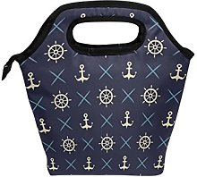 hunihuni Nautical Anchor Wheel Pattern Insulated