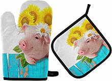 Hunihuni Oven Mitts Pot Holders Sets Cute Animal