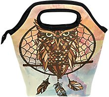 hunihuni Owl Dreamcatcher Insulated Thermal Lunch