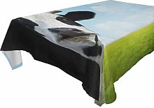 Hunihuni Rectangle Tablecloth,Animal Cow Pattern