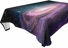 Hunihuni Rectangle Tablecloth,Galaxy Space