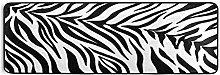 Hunihuni Runner Rug, Animal Zebra Stripe Print Non