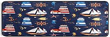 Hunihuni Runner Rug,Nautical Anchor Lighthouse Non