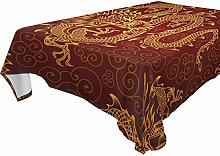 Hunihuni Square Tablecloth,China Chinese Animal
