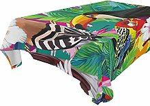 Hunihuni Square Tablecloth,Tropical Animal Toucan