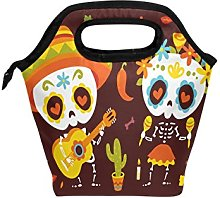 hunihuni Sugar Skull Insulated Thermal Lunch