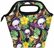 hunihuni Tropical Skull Pattern Insulated Thermal