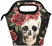 hunihuni Watercolor Gothic Skull Rose Insulated