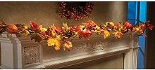 Hunpta@ 1.8M LED Lighted Fall Autumn Pumpkin Maple