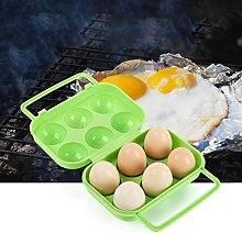 hunpta Portable 6 Eggs Plastic Container Holder