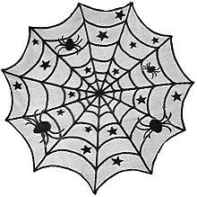 Hunt Gold Halloween Cobweb Gothic Black Lace Bat