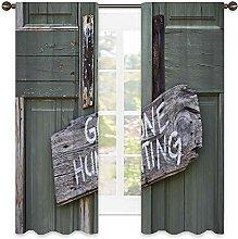 Hunting Decor Heat insulation curtain ,Gone