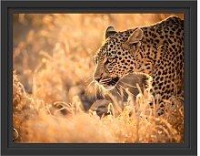 Hunting Leopard Framed Photographic Art Print East