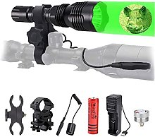 Hunting Torch with Green Red Light, Waterproof LED