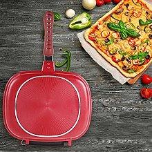 HUOGUOYIN Frying pan 28cm Double Side Grill Fry