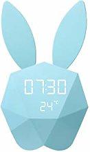 HUOQILIN Alarm Clock Cute Little Bunny Electronic