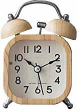 HUOQILIN Simple Wood Bedroom Bedside Alarm Clock