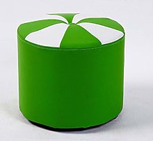HUOQILIN Small Round Leather Stool Leather Stool