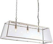 Hurst - Pendant Bright Nickel Plate & Clear Glass