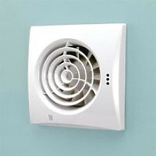 Hush White Wall Mounted Bathroom Fan with Timer &