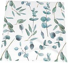 Hustor Cloth Napkins,Eucalyptus Floral Greenery