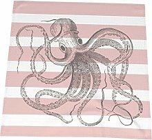 Hustor Cloth Napkins,Nautical Vintage Octopus On