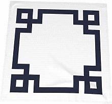 Hustor Cloth Napkins,Navy Blue And White Greek Key