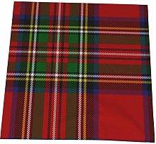 Hustor Cloth Napkins,Red Royal Stewart Tartan