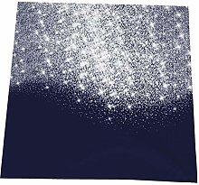 Hustor Cloth Napkins,Silver Blue Navy Gray Glitter