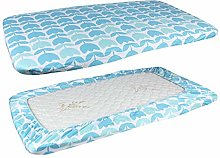 HUVE Babies Bedding Cotton Knit Crib Fitted Sheet