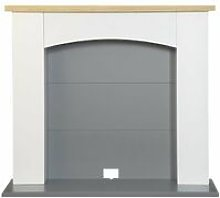 Huxley Electric Stove Fireplace in Pure White &