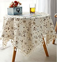HVKLHNF Cotton and Linen Tablecloth Desk Coffee