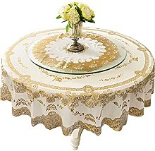 HVKLHNF Round Tablecloth Waterproof and Oil-Proof