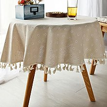 HVKLHNF Tablecloth Cotton Leprosy Desk Coffee