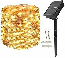 HVTKL Solar Fairy Light Copper Wire 200 LED Light