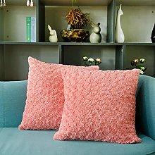 HVTKLN Ins wind rose velvet pillow Nordic small