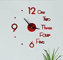 Hwcpadkj DIY Wall Clock 3D Frameless Silent