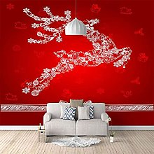 HWCUHL 3D Wall Stickers Mural Abstract Christmas