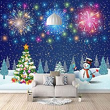 HWCUHL 3D Wall Stickers Mural Christmas Color