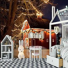 HWCUHL 3D Wall Stickers Mural Christmas House