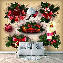HWCUHL 3D Wall Stickers Mural Christmas Present