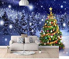 HWCUHL 3D Wall Stickers Mural Christmas Snow Scene