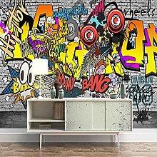 HWCUHL 3D Wall Stickers Mural Color Art Graffiti