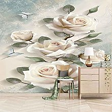 HWCUHL 3D Wall Stickers Mural Fashion Rose Flower