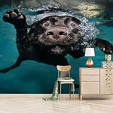 HWCUHL 3D Wall Stickers Mural Water Animal Puppy
