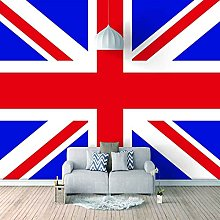 HWCUHL Wall Mural Wallpaper Blue Red Background